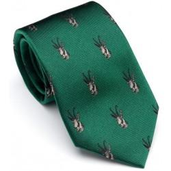 Cravate verte avec têtes chamois Laksen