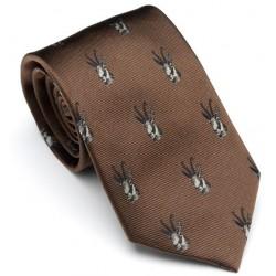 Cravate marron chamois Laksen
