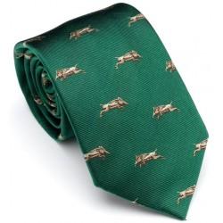 Cravate verte avec sangliers Laksen