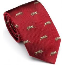 Cravate rouge avec sangliers Laksen