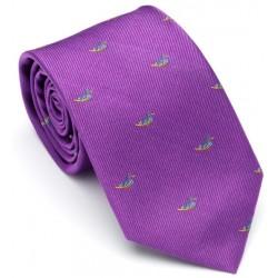 Cravate violet canards Laksen