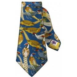 Cravate Bel-Event en soie faisan