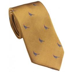 Cravate Laksen Faisan gold