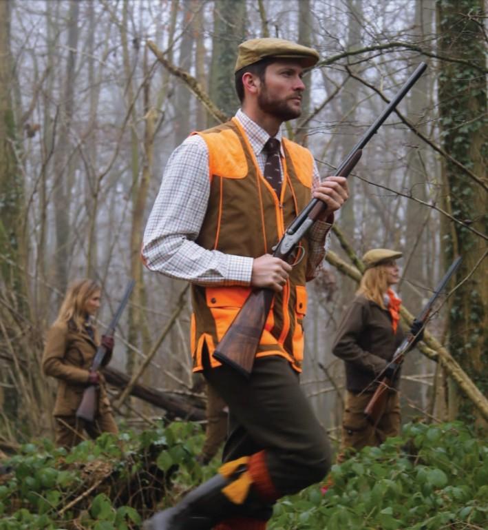 Gilet de chasse Club Interchasse Cévrus orange