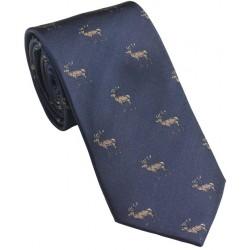 Cravate Laksen Cerf bleu marine