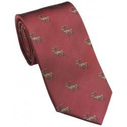 Cravate Laksen Cerf rouge