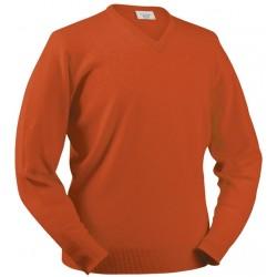 Pull en laine d'agneau Glenbrae orange