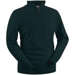 Pull en laine d'agneau Glenbrae vert tartan