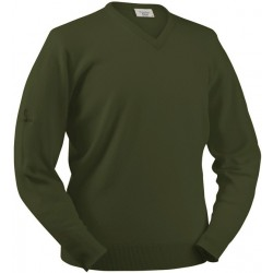 Pull en laine d'agneau Glenbrae vert loden