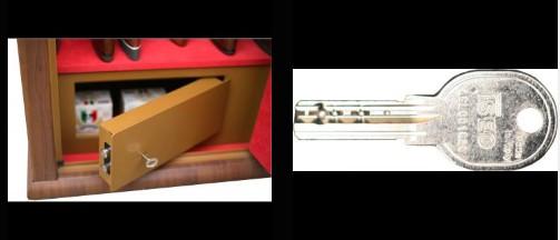 Coffre pour 8 armes vitrine Infac couleur bois