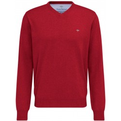 Pull Fynch-Hatton col V coton ruby