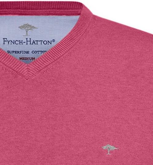 Pull Fynch-Hatton V coton rose