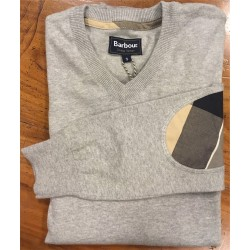 Pull Barbour Clyde gris