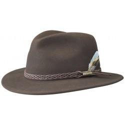chapeau Stetson en feutre marron