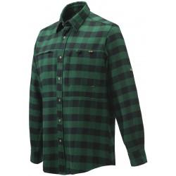 Sur chemise bucheron verte à carreaux