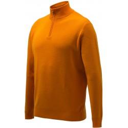 pull laine mérinos orange beretta