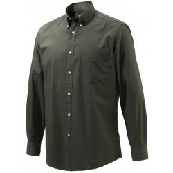 chemise verte unie en coton beretta