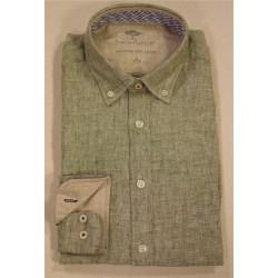 chemise en lin vert