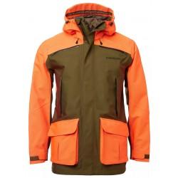 veste traque vert orange femme