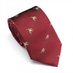 Cravate rouge à bécasses...