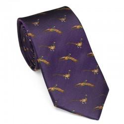 Cravate bruyère à faisans...