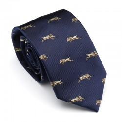 Cravate bleu marine à...