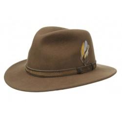 Chapeau en feutre beige...