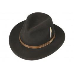 Chapeau en feutre marron...