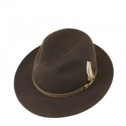 Chapeau feutre Stetson marron