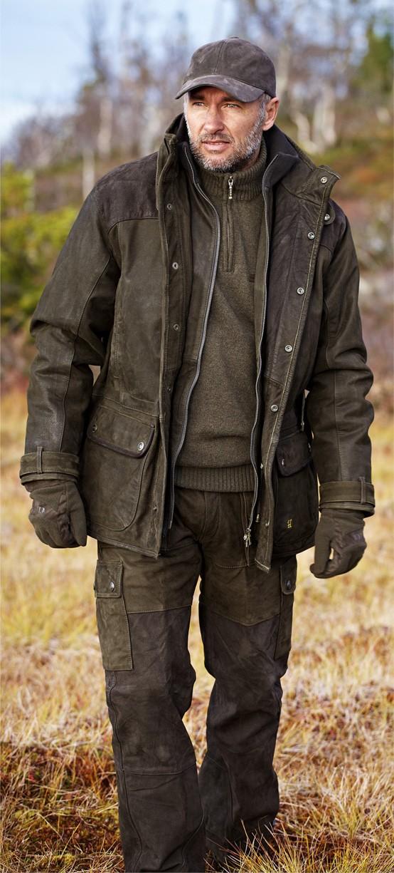 Veste et pantalon de chasse en cuir Angus