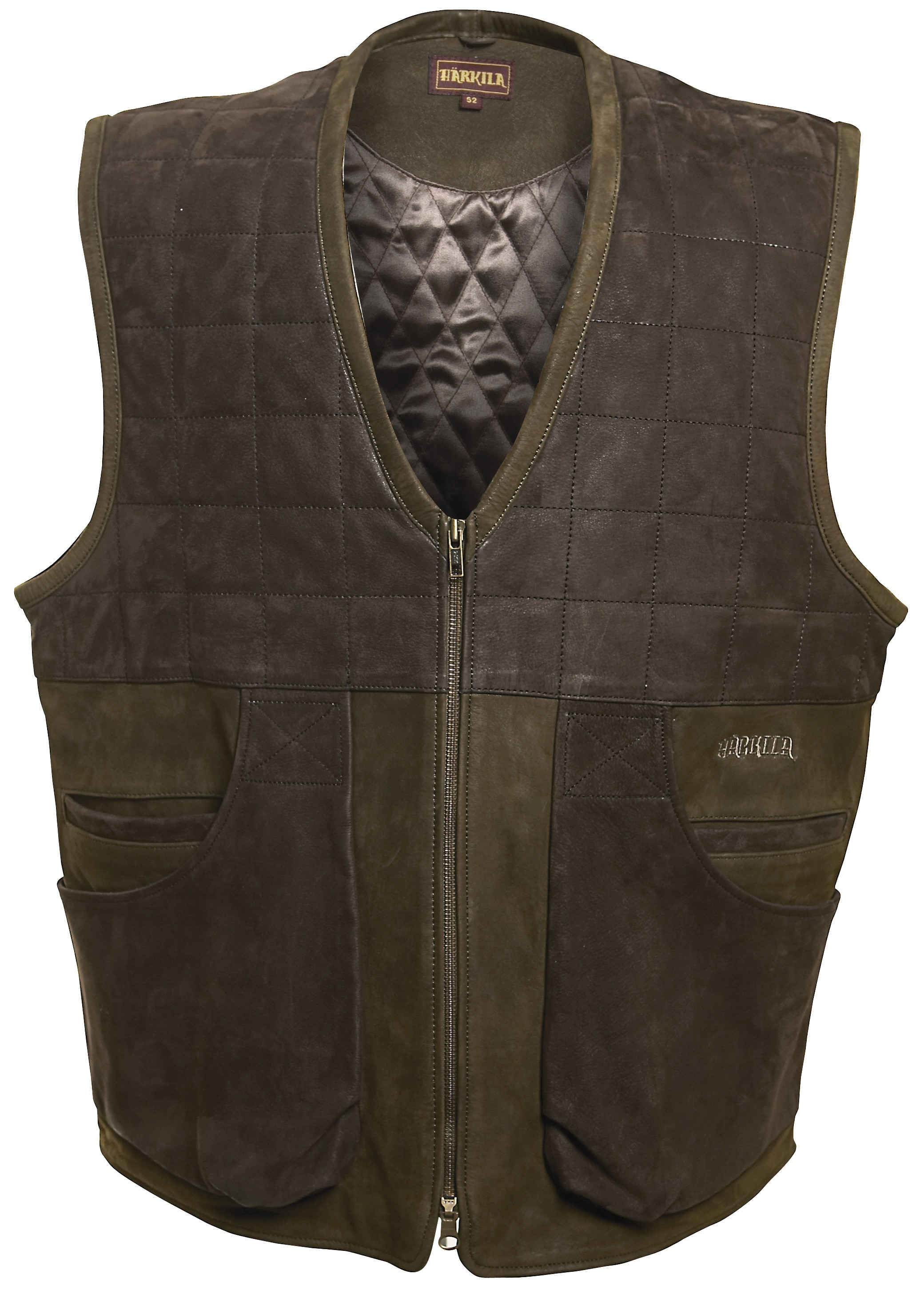 Gilet chasse en cuir Angus Härkila Chapuis