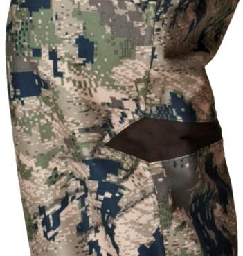 Détail du genou préformé du pantalon de chasse Stealth Härkila