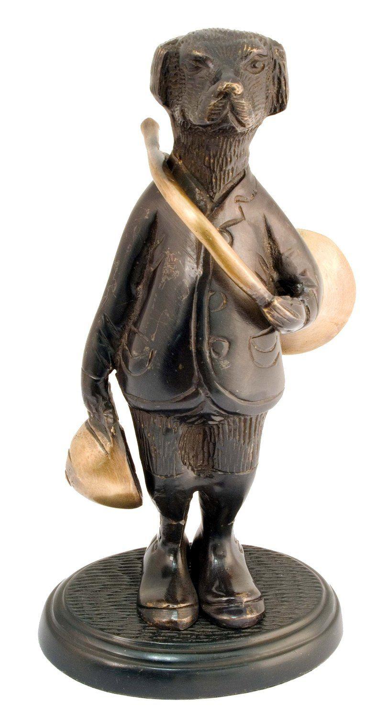Bronze humoristique : chien veneur