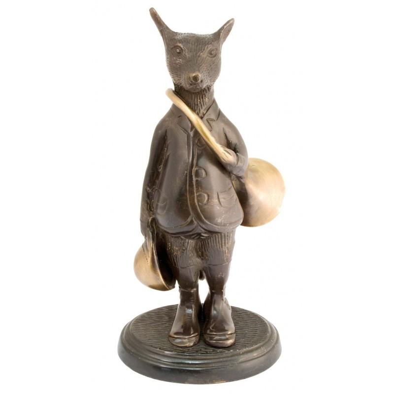 Bronze humoristique : renard veneur