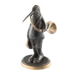 Bronze humoristique : bécasse veneur