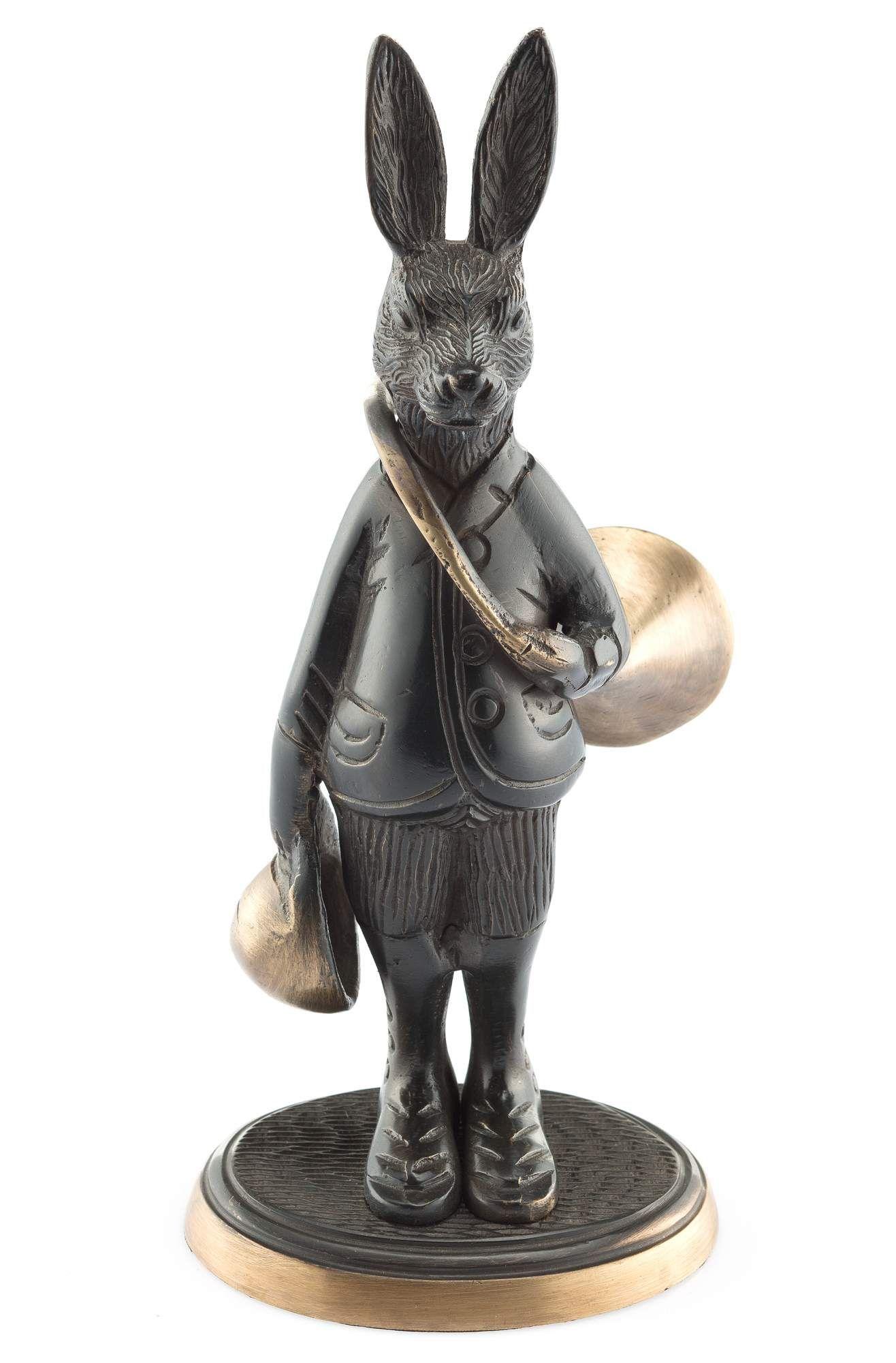 Bronze humoristique : lièvre veneur