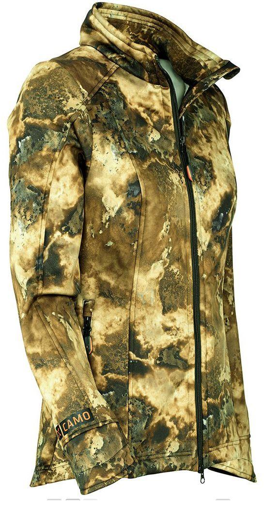 Veste pour femme softshell camo savane Unuk de X-Jagd