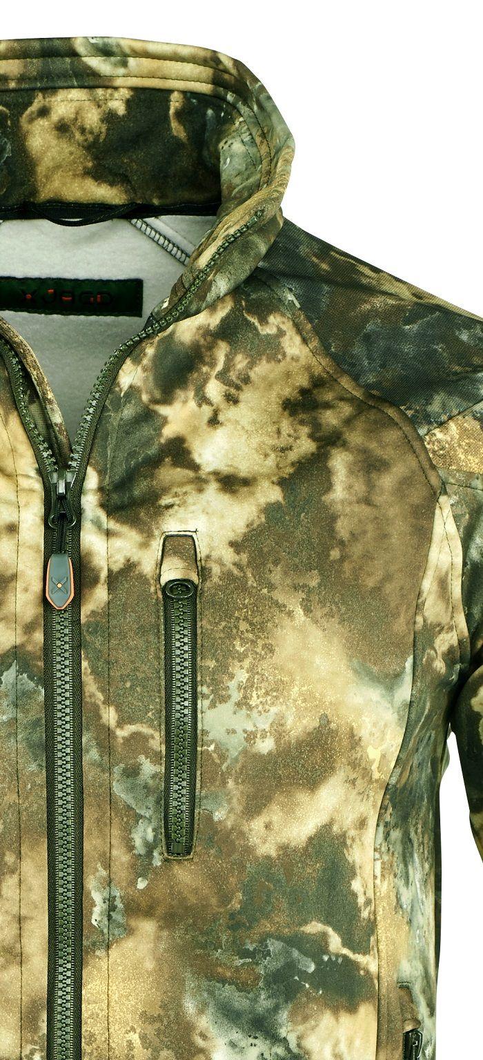 Veste softshell bethel en motif camo foret de X-Jagd