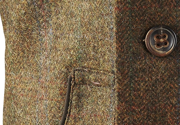 Gilet en tweed marron Torridon Härkila