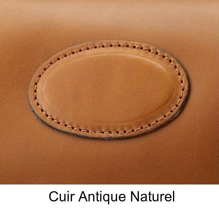 Ceinture en cuir antique naturel Alexandre Mareuil