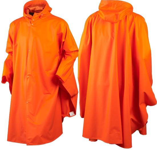 Poncho de pluie fluo orange Rainy Seeland