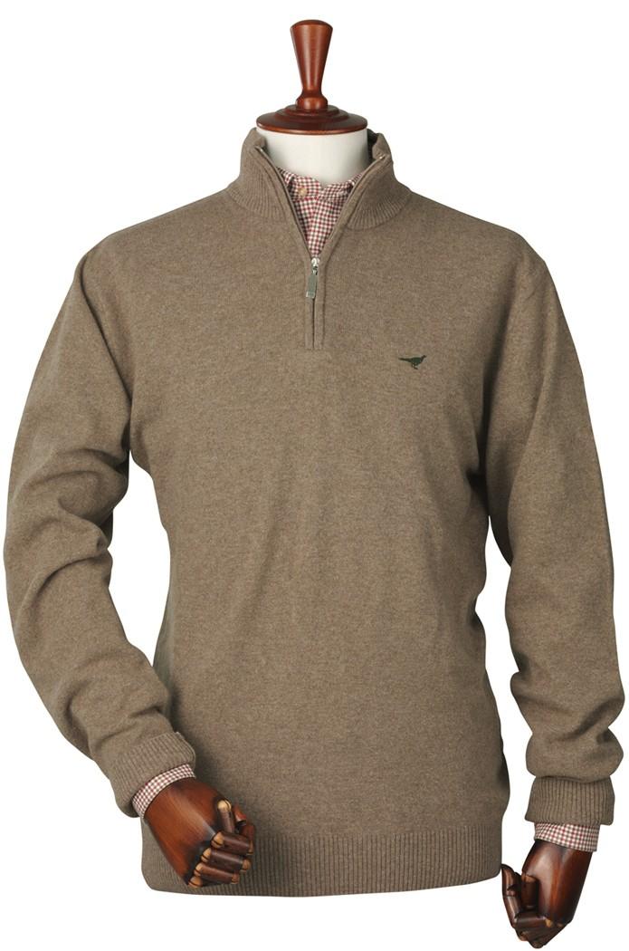 Pull en laine d'agneau camel Lakewood Laksen