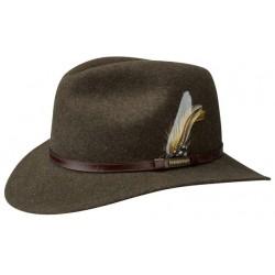 Chapeau marron chiné Newberg Stetson