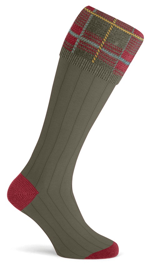 Chaussettes olive Derby Pennine