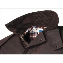 Manteau en coton marron huilé Horseman de Scippis