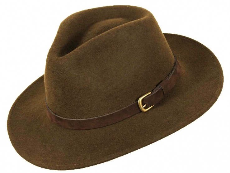 Chapeau en laine vert de Scippis