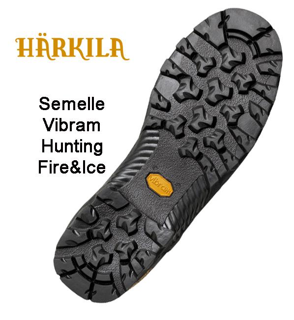 Semelle extérieure Pro Hunter GTX10 Armortex Kevlar Härkila Vibram Hunting Fire&Ice