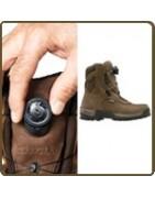 chaussures chasse avec système de laçage facile