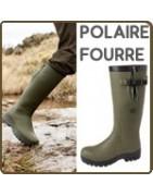 bottes caoutchouc intérieur divers : polaire, fourrure...